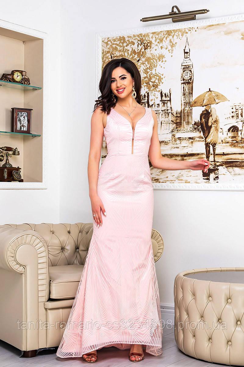 Вечірня сукня прилеглогу крою рожевого кольору
