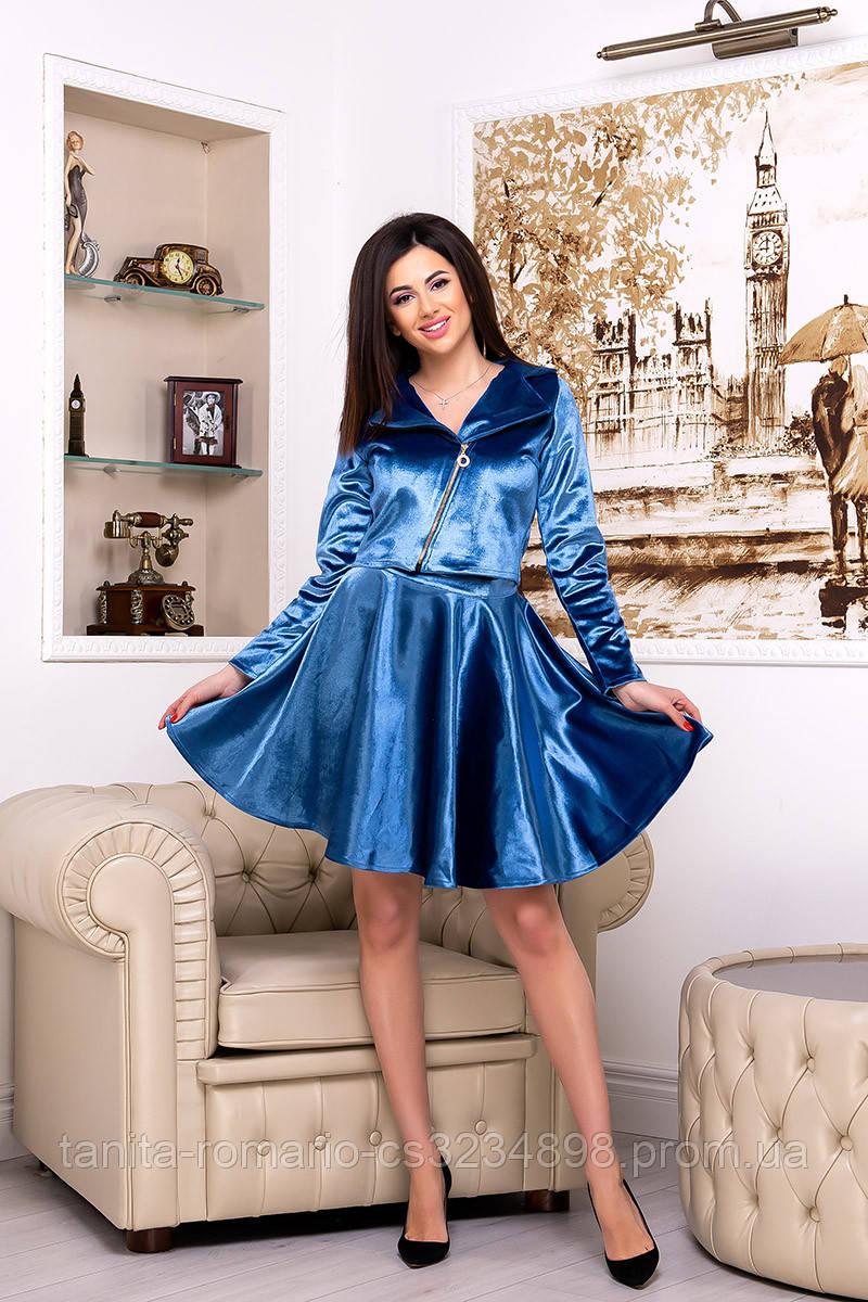 Повседневное платье 7248e Электрик S M L