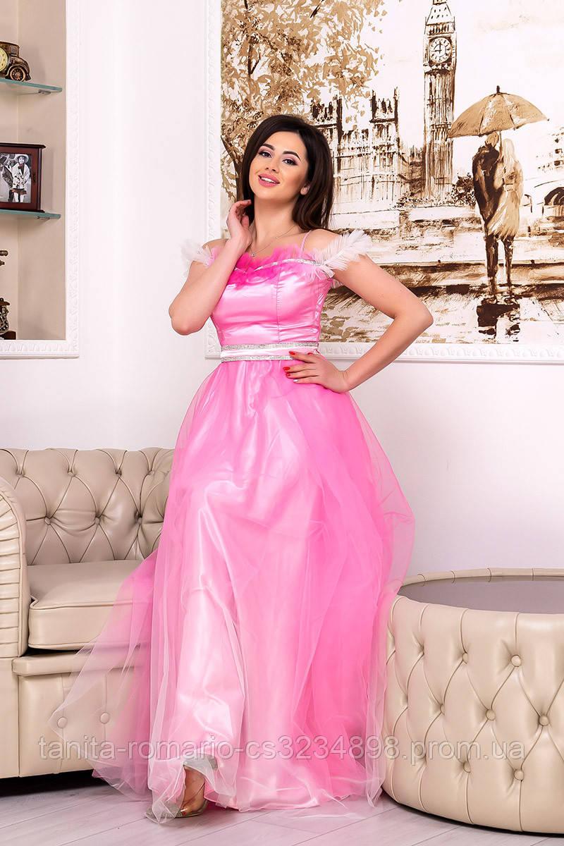 Вечернее платье 9062e Розовый S M L