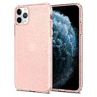 Чехол Spigen для iPhone 11 Pro Max Liquid Crystal Glitter, Rose Quartz (075CS27132), фото 1