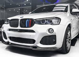 Решетка радиатора ноздри BMW X3 F25 рестайл 14-17 стиль M (черный глянц + колор)