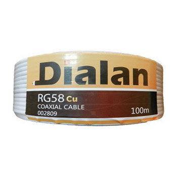 Коаксиальный кабель Dialan RG58 50ом 100м медь белый, фото 2