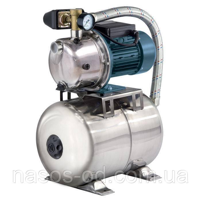 Насосная станция гидрофор Насосы+Оборудование AUJS60/24L SS для воды 0.6кВт Hmax37м Qmax41л/мин 24л