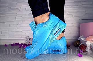 Кроссовки женские Classica 7164 -3 синие (искусственная кожа, весна/осень), фото 2