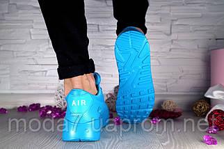 Кроссовки женские Classica 7164 -3 синие (искусственная кожа, весна/осень), фото 3