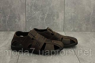 Босоножки мужские Yuves 155 коричневые (натуральная кожа, лето), фото 3