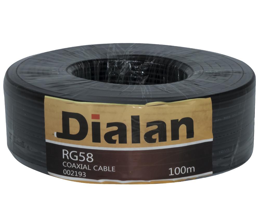 Коаксиальный кабель Dialan RG58 50ом 10м биметалл черный