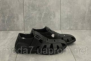 Босоножки мужские Yuves 158 черные (натуральная кожа, лето), фото 3
