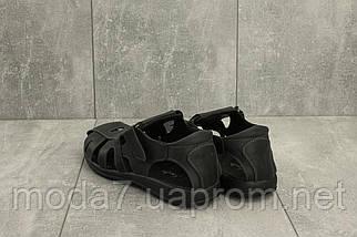 Босоножки мужские Yuves 158 черные (натуральная кожа, лето), фото 2