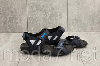 Босоножки мужские Best Vak Л2-03 синие (натуральная кожа, лето), фото 2
