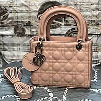 Женская сумка в стиле Dіоr Lady (Диор Леди), розовый цвет