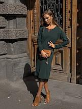 """Ангоровое миди-платье свободного кроя """"LOREN"""" с кружевом (3 цвета), фото 3"""