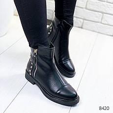 """Ботинки женские демисезонные """"Rosone"""" черного цвета из эко кожи. Ботильоны женские. Ботильоны демисезон, фото 3"""