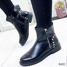 """Ботинки женские демисезонные """"Rosone"""" черного цвета из эко кожи. Ботильоны женские. Ботильоны демисезон, фото 2"""