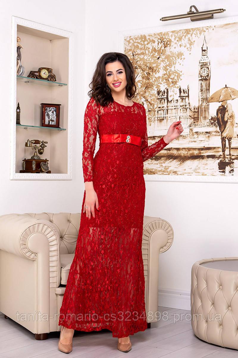 Вечернее платье 4378e Красный L(р)