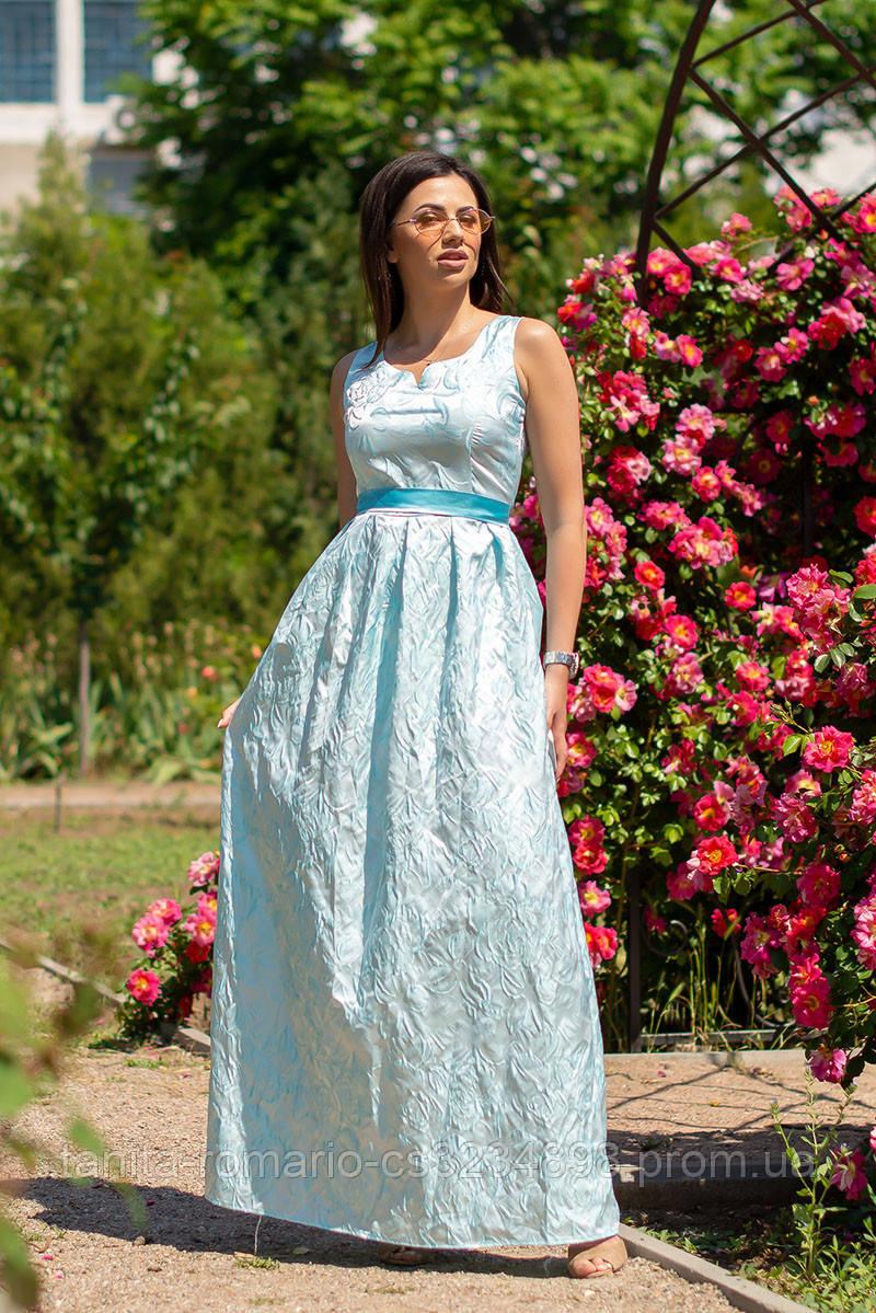 Вечернее платье 6133e Бирюза L(р)