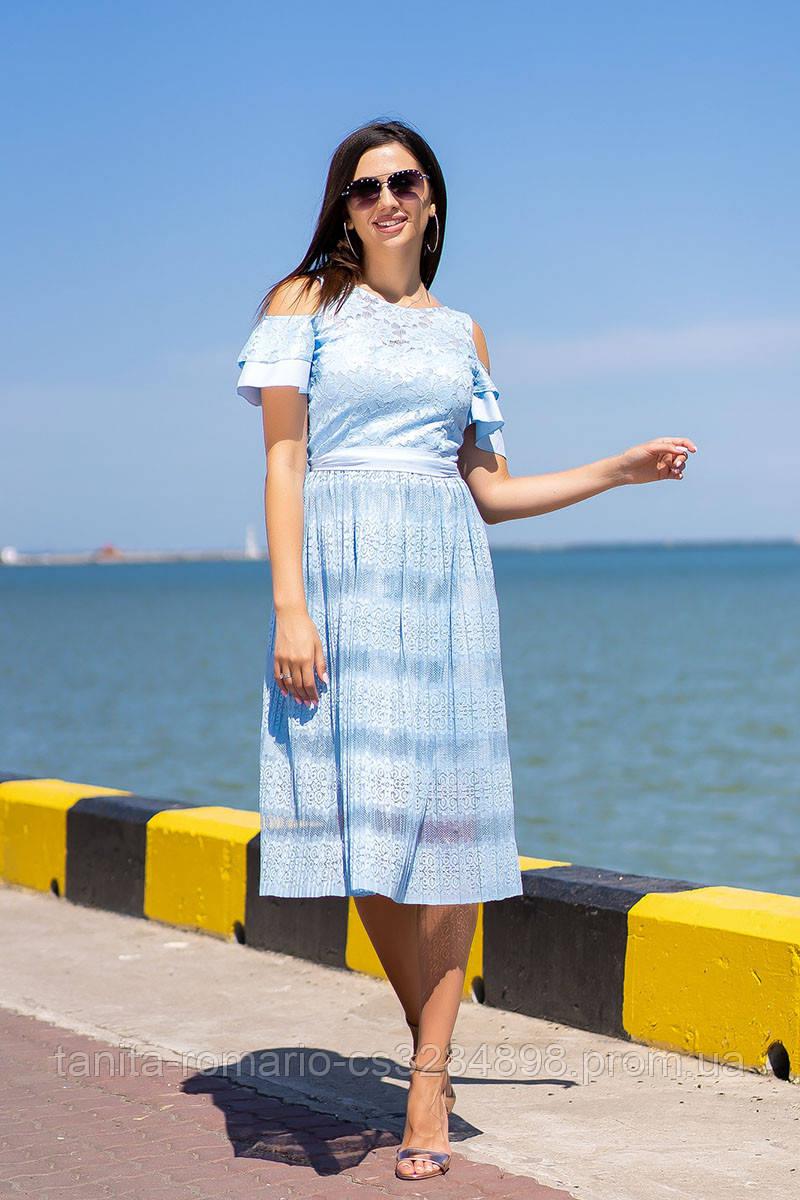 Коктейльное платье 9104e Голубой L(р)