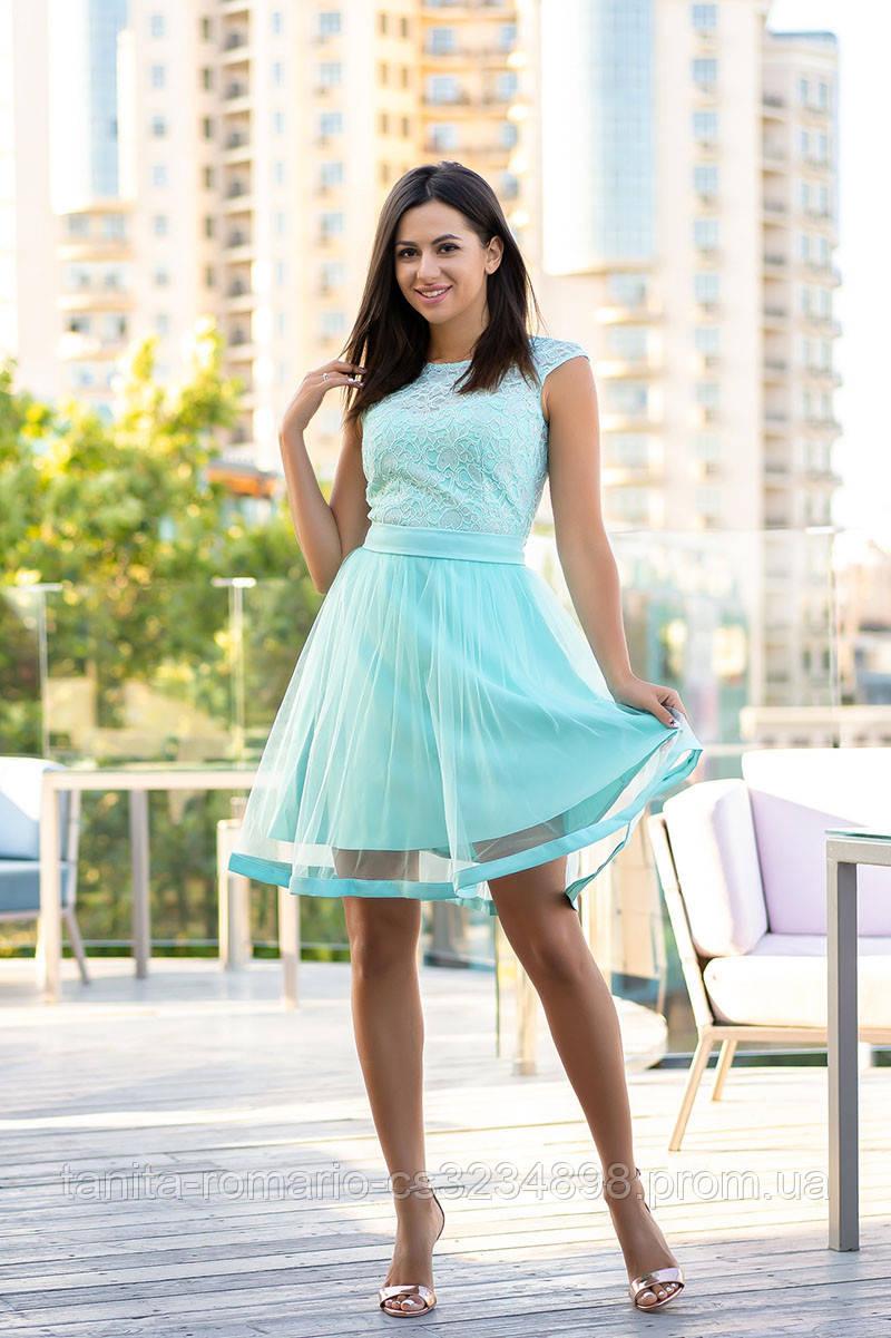 Коктейльное платье 9128e Мятный M(р)