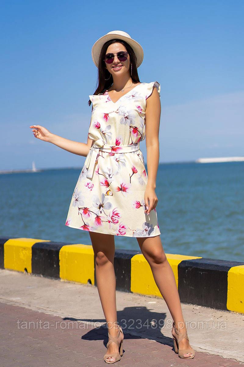 Повседневное платье 9100e Розовый L(р)