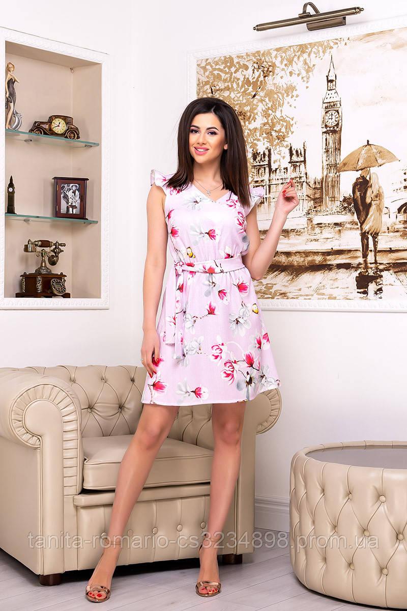 Повседневное платье 9100e Сиреневый L(р)