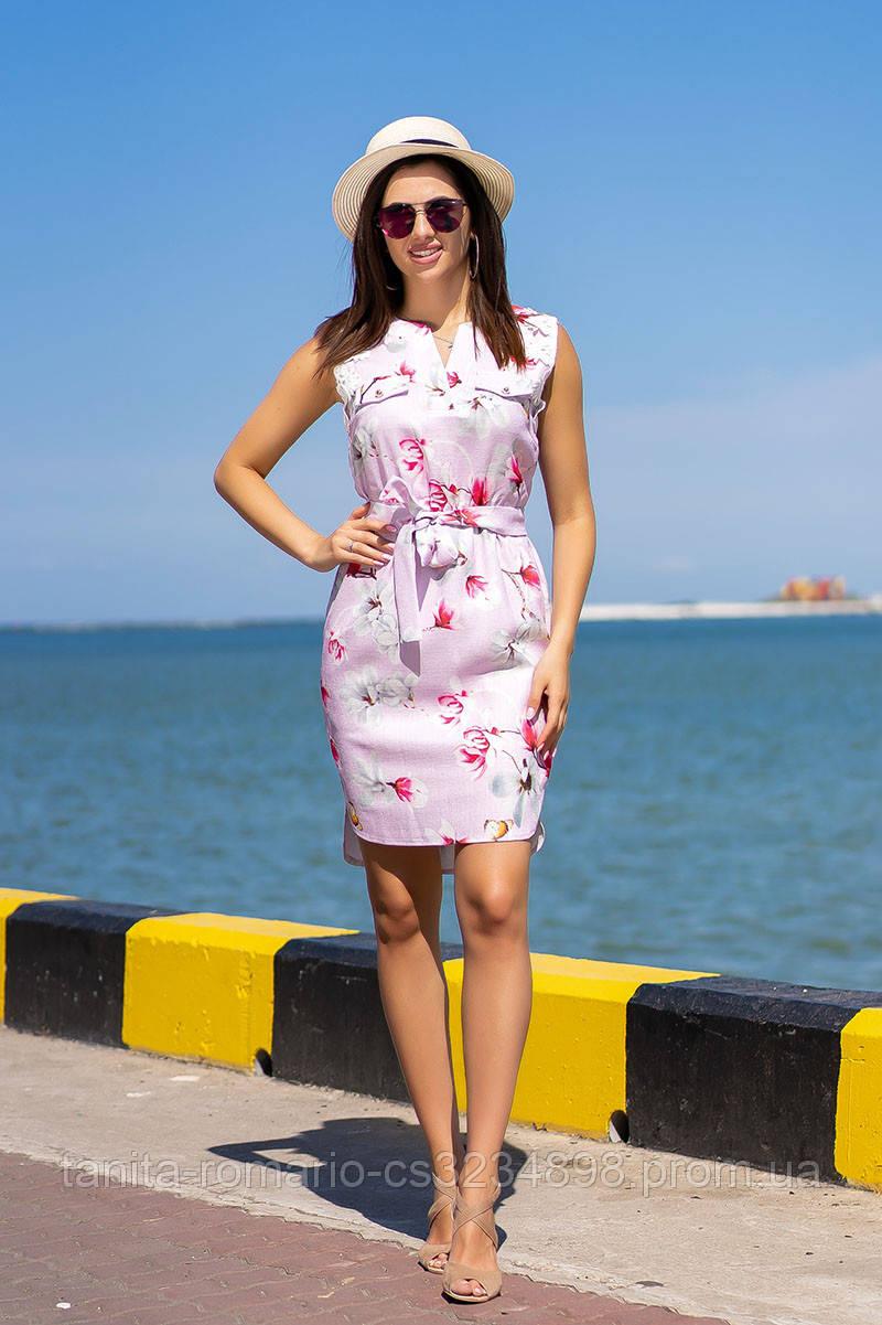 Повседневное платье 9132e Сиреневый L(р)