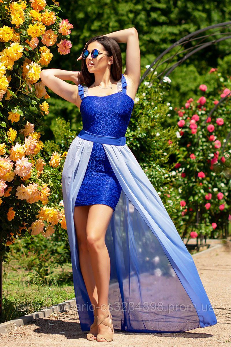 Коктейльное платье 5052e Электрик S(р)