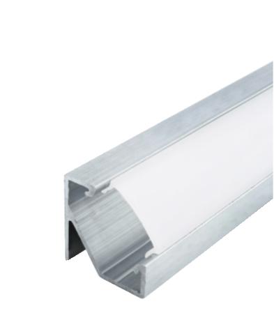Комплект Biom профиль угловой ЛПУ17 неанод + рассеиватель ПУ17НА+LM-U