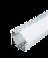 Комплект Biom профиль угловой ЛПУ17 неанод + рассеиватель ПУ17НА+LM-U, фото 1