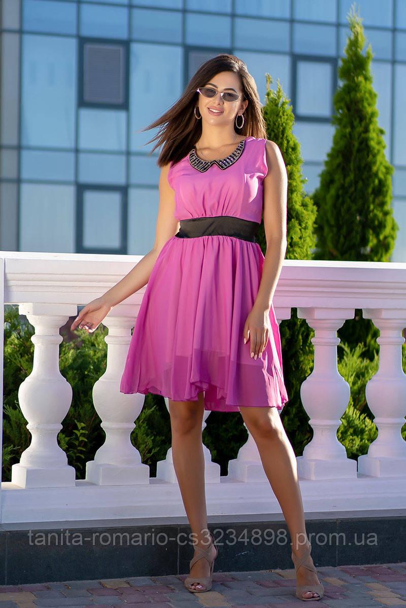 Коктейльное платье 3052e Малиновый M(р)