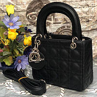 Женская сумка в стиле Dіоr Lady (Диор Леди), черный цвет