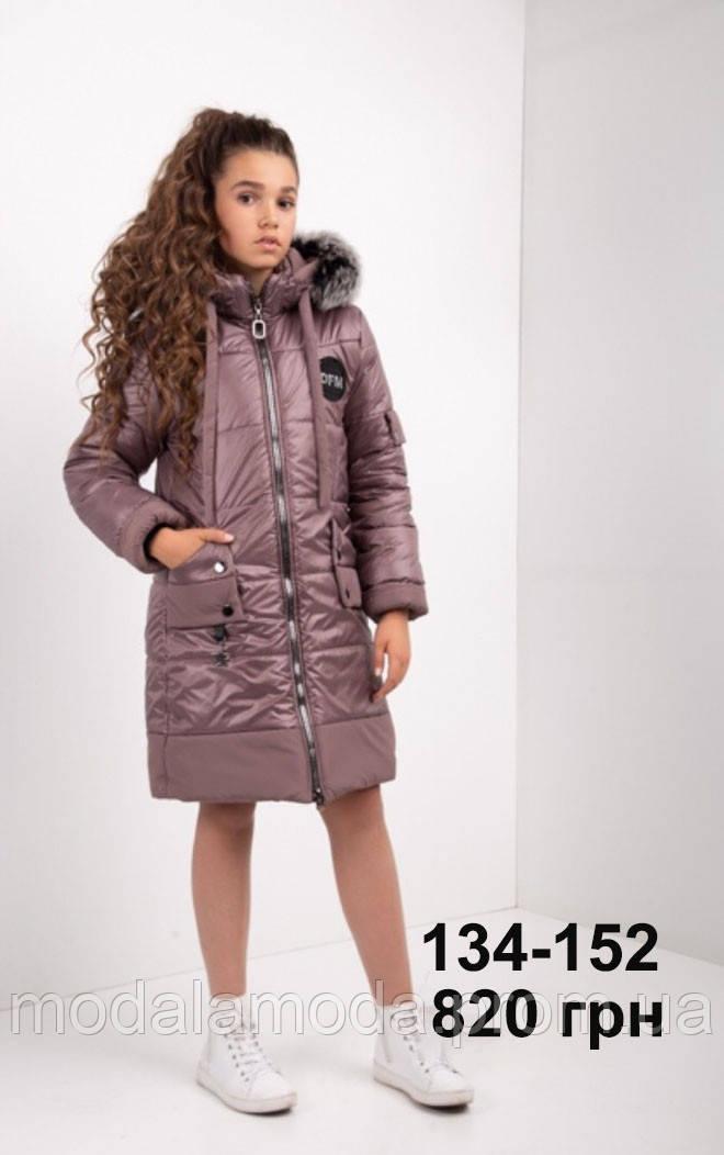 Куртка для девочки зимняя с мехом ОПТОМ!
