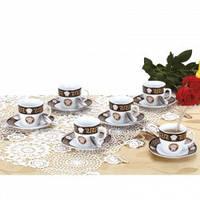 Кофейный набор 18 предметов на 6 персон  Zillinger  ZL-757 B  Varro Black  , фото 1