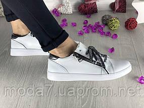 Кеды женские Best Vak КЖ 38 -06Б белые (натуральная кожа, весна/осень), фото 2