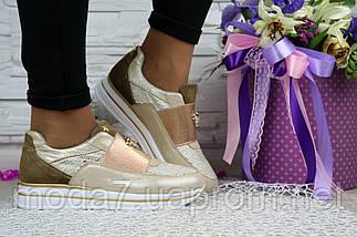 Кроссовки женские Best Vak ЖС 11 -305 бежевые (натуральная кожа, весна/осень), фото 3
