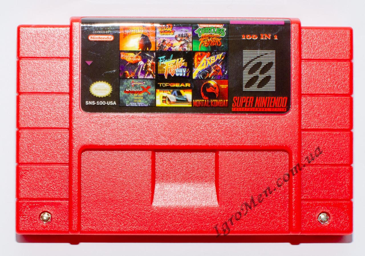 Картридж Супер Нинтендо (NTSC, 100 игр)