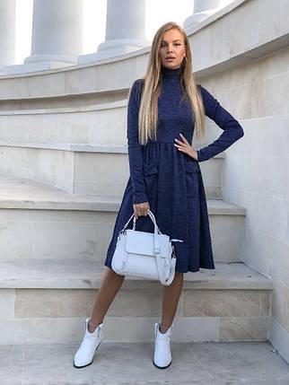 """Приталенное ангоровое платье-гольф """"TAPIRO"""" с карманами (5 цветов), фото 2"""
