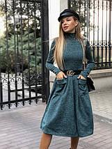 """Приталенное ангоровое платье-гольф """"TAPIRO"""" с карманами (5 цветов), фото 3"""