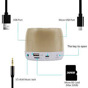 Портативная акустическая Bluetooth колонка Hopestar H17 Gold, фото 2