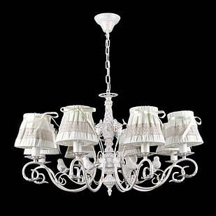 Классическая люстра с птичками на 8 лампочек СветМира VL-IS-78135/8