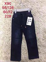 Джинсовые брюки на флисе для мальчиков S&D 98-128 р.р.