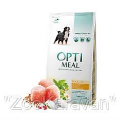 Сухой корм Opti Meal  для взрослых собак крупных пород (от 25 кг) с курицей, 4 кг