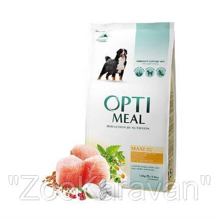 Сухой корм Opti Meal  для взрослых собак крупных пород (от 25 кг) с курицей, 4 кг, фото 2