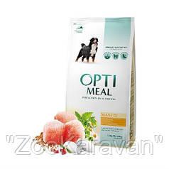 Сухой корм Opti Meal  для взрослых собак крупных пород (от 25 кг) с курицей, 12 кг