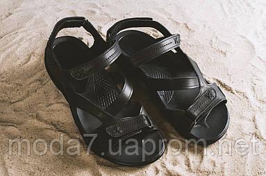 Босоножки мужские StepWey 1072 черные (натуральная кожа, лето)