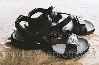 Босоножки мужские StepWey 1072 черные (натуральная кожа, лето), фото 3