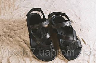Босоножки мужские StepWey 1072 черные (натуральная кожа, лето), фото 2