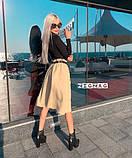 Стильная женская юбка свободного кроя с ремнем 2расцв. 42-46р., фото 4