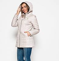 Куртка весенняя женская жемчуг, размер: 48-58