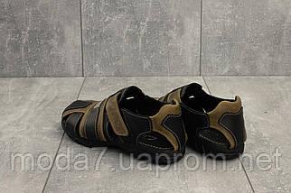 Босоножки подростковые Clarks 158 оливковые-черные (натуральная кожа, лето), фото 2