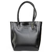 Женская сумка из натуральной кожи в черном цвете